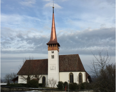 Kirchturm Mühleberg-saniert 2016-01_II quer —  28.1.2016<div class='url' style='display:none;'>/</div><div class='dom' style='display:none;'>kirchenregion-laupen.ch/</div><div class='aid' style='display:none;'>3786</div><div class='bid' style='display:none;'>9489</div><div class='usr' style='display:none;'>79</div>